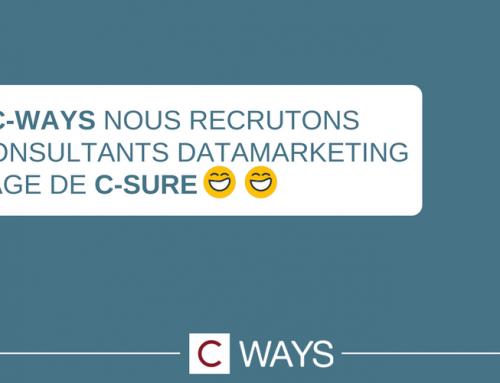 C-Ways recrute des consultant(e)s en DataMarketing en stage de césure à partir de septembre 2018